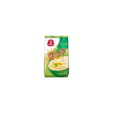 Flocons d'avoine précuite enrichis en Quinoa 3 Ositos / Petit déjeuner péruvien / Pérou