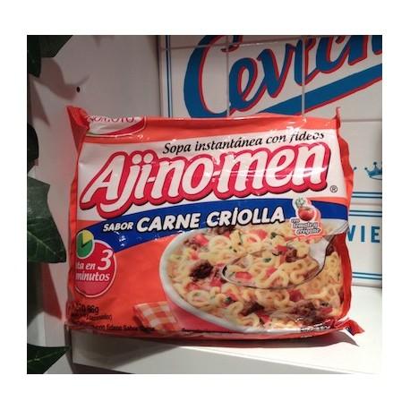 Aji-no-men Viande à la Créole Soupe instantanée aux vermicelles Ajinomoto 86g
