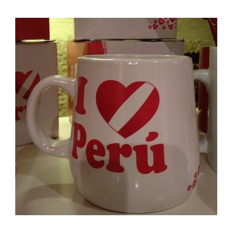 "Tasse Souvenir péruvienne ""Te Amo Perú"" Blanche - Pérou"