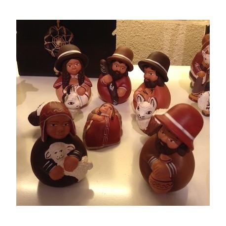 Crèche péruvienne en Céramique d'Ayacucho - Pérou