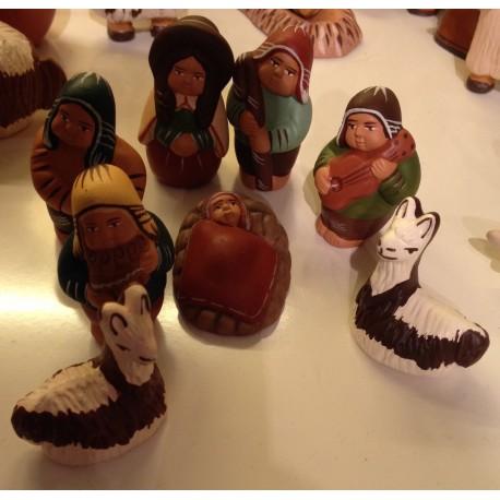 Crèche péruvienne Santons Musiciens en Céramique d'Ayacucho - Pérou