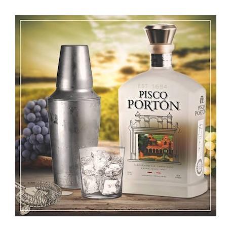 Pisco péruvien Acholado (Cépages Quebranta, Albilla et Torontel pour Pisco Sour) Portón 40° / Pérou