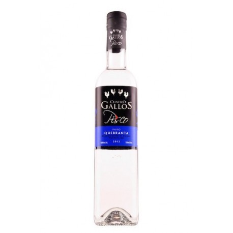 Pisco Puro Quebranta Cuatro Gallos 40° 70cl