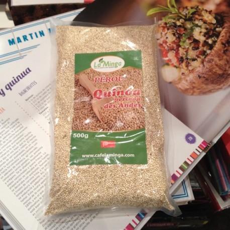 Quinoa péruvienne blanche Perlée La Minga / Céréales du Pérou