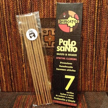 7 Bâtonnets d'Encens de Palo santo Bois Sacré péruvien Runcato