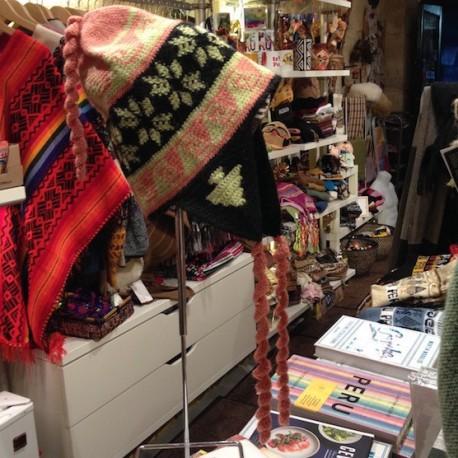 Bonnet (Chullo) péruvien 100% Alpaga - Création Titi Guiulfo / Pérou