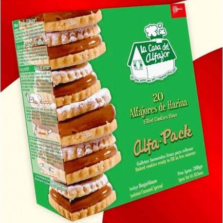 Alfajores à la farine de blé - Biscuits péruviens fourrés à la Confiture de lait La Casa del Alfajor / Pérou