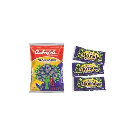 Bonbons péruviens aromatisés à la Chicha Morada Ambrosoli / Maïs violet du Pérou