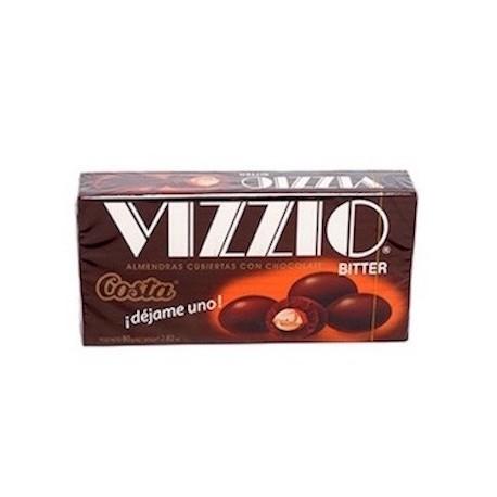Vizzio Bitter Amandes enrobées de Chocolat Costa 72g