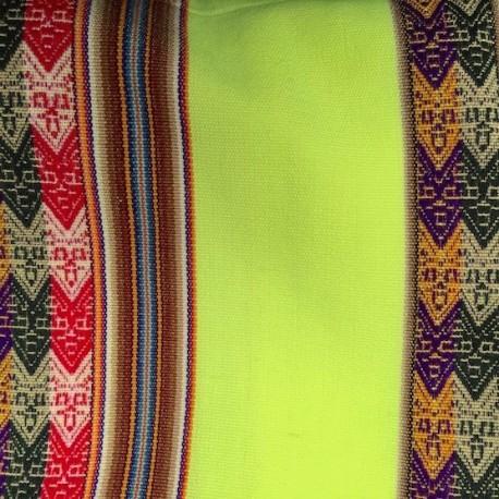 Tissu Macha Péruvien Jaune Fluo (Environ 120x220cm)