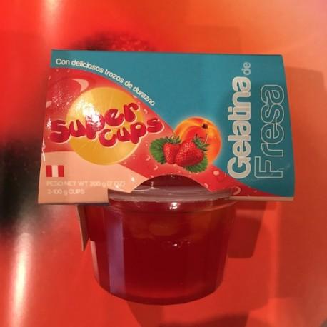 Gelatina de Fresa Super Cups 2x100g