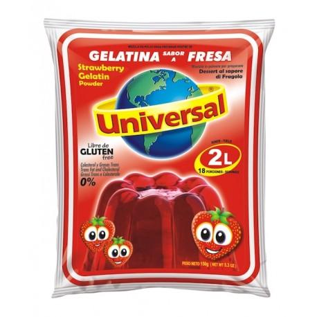 Dessert gélifié à la Fraise Universal 150g