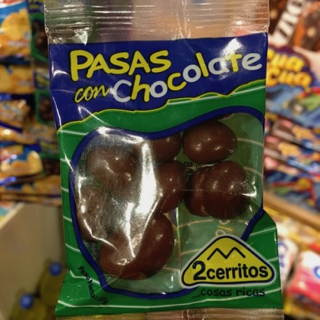 Pasas Borrachas con Chocolate 2 Cerritos 17g
