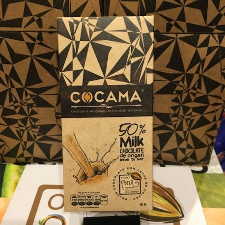 Chocolat au Lait 50% Cocama 70g