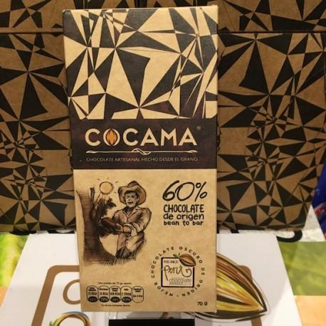 Chocolat Noir Bitter 60% Cocama 70g
