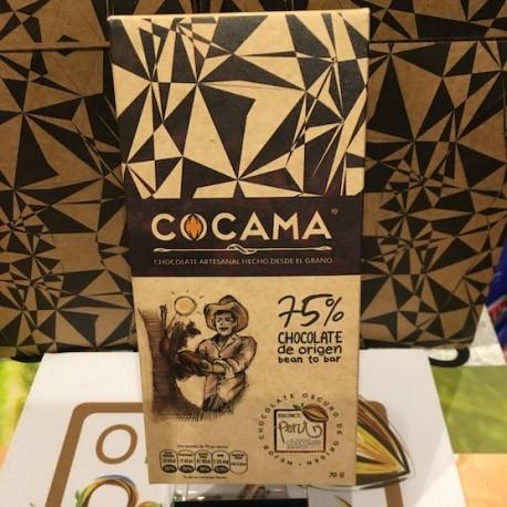 Chocolat Noir Bitter 75% Cocama 70g