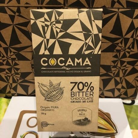 Chocolat Noir Bitter au Café 70% Cocama 70g