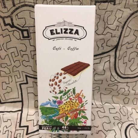 Chocolat Noir Bitter au Café 48% Elizza 50g