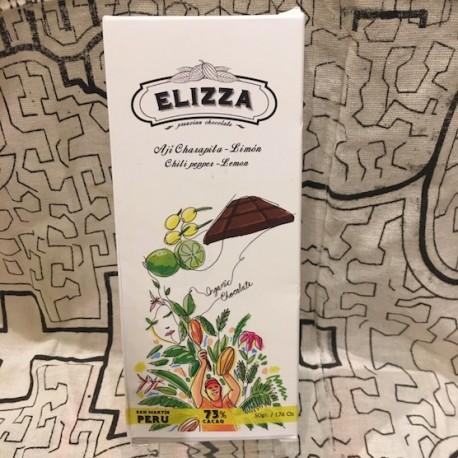 Chocolat Noir Bitter au Piment Charapita 73% Elizza 50g