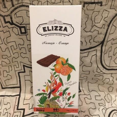 Chocolat Noir Bitter a l'Orange 60% Elizza 50g