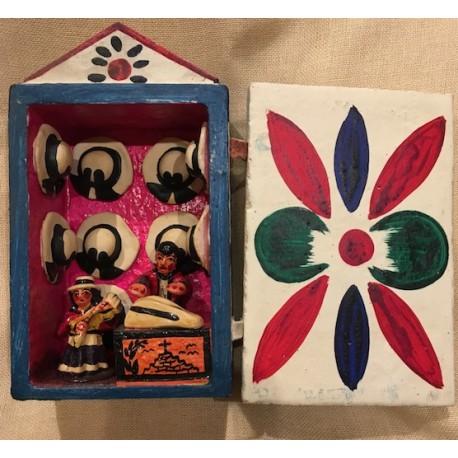 Retable Traditionnel d'Ayacucho 8cm x 12cm - Pérou