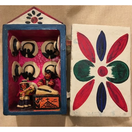 Retablo Tradicional de Ayacucho 8cm x 12cm - Perú