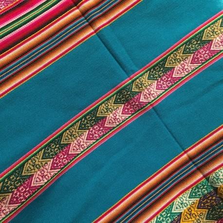 Tissu Macha Péruvien Esmeralda (Environ 110x120cm)