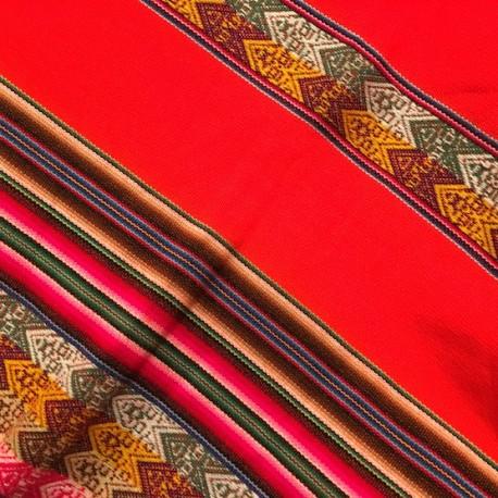 Tissu Macha Péruvien Orange (Environ 110x120cm)