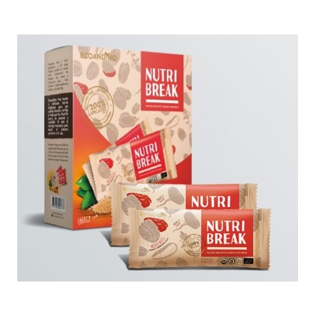 Nutri Break à la Noix de Pecan et du Brésil EcoAndino 6 barres de 25g