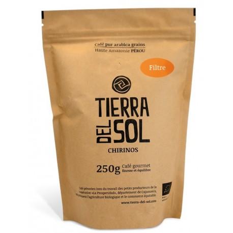 Café péruvien pur Arabica moulu Gourmet Tierra del Sol 250g