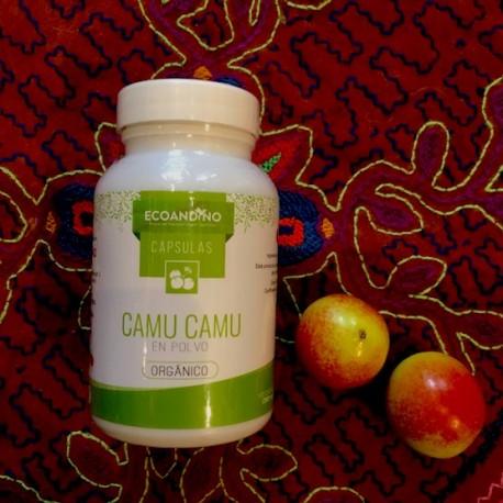 Camu Camu certificado Biológico en Cápsulas vegetales (Myrciaria Dubia) 100% puro Calidad Standard EcoAndino / Perú