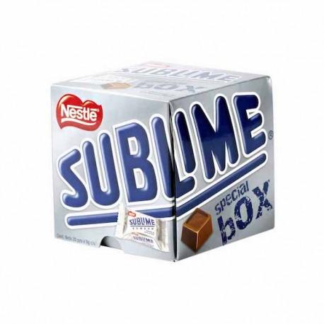Sublime Special Box de Chocolat au lait aux cacahuètes Nestlé 8gx20