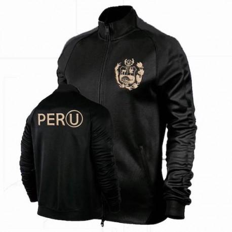 Casaca Deportiva Negra con logo Escudo