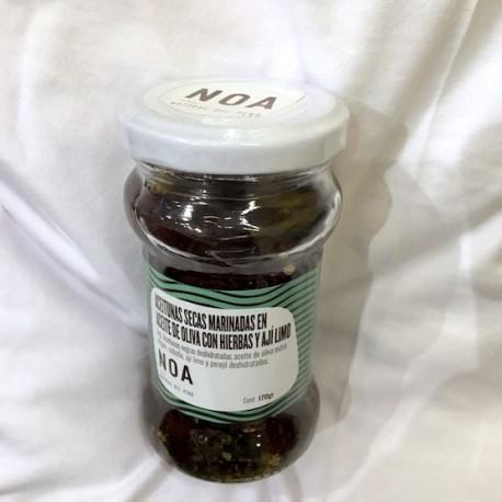 Aceitunas secas marinadas en aceite de oliva Noa 170g