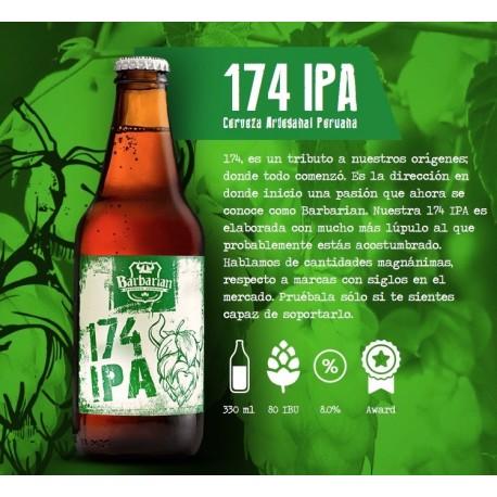 174 IPA Bière artisanale Blonde Barbarian 8° 330ml