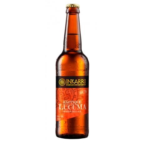 Exotique Lúcuma Bière artisanale Pale Ale Blonde à la Lúcuma Inkarri 5° 33cl