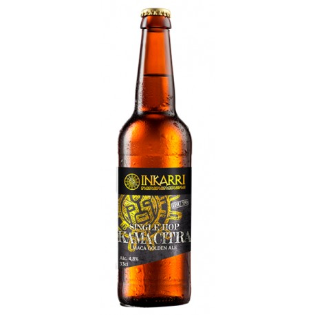 Single Hop Kama-Citra Bière artisanale Golden Ale Blonde à la Maca Inkarri 4,8° 33cl