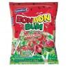 Sucette Bon Bon Bum ronde au coeur de chewing gum (Pastèque) Colombina / Colombie 24 sucettes