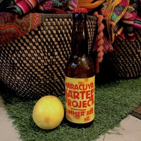 Maracuya Cartel Projet Bière artisanale Blonde au Fruit de la Passion Inkarri 5° 33cl