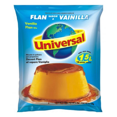 Flan aromatisé à la Vanille Universal 250g