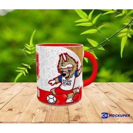 """Peruvian Tasse Souvenir Mug """"Russia 2018"""" - Peru"""