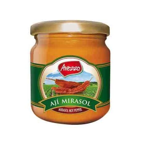 Piment jaune séché Ají Mirasol en Purée Arezzo 195g - Carton de 24