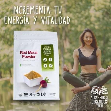 Maca Rouge Bio Poudre PREMIUM 100% pure Algarrobos Orgánicos 250g