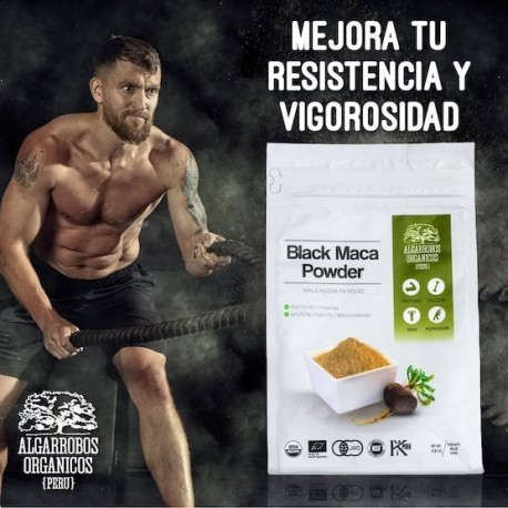 Maca Noire Bio Poudre PREMIUM 100% pure Algarrobos Orgánicos 250g