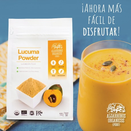 Pulpe de Lúcuma Bio en Poudre Algarrobos Orgánicos 250g