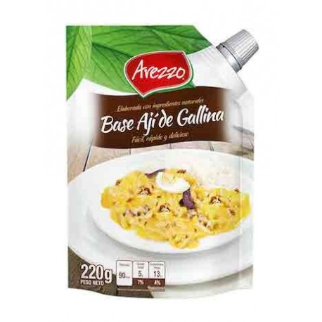 Ají de Gallina - Base liquide pour cuisine péruvienne facile et rapide Arezzo / Recette du Pérou