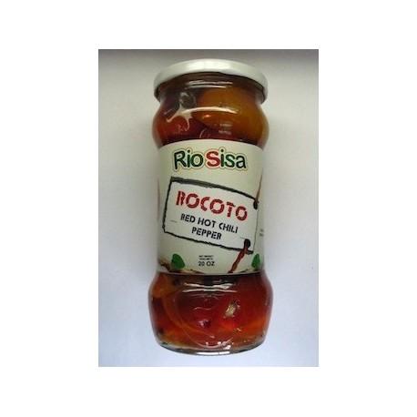 Piment Rocoto péruvien entier en Conserve (Entero en Mitades / Locoto) Rio Sisa / Cuisine du Pérou et de la Bolivie