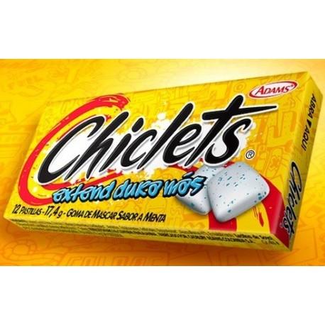 Chewing-gums Chiclets Original goût Menthe Adam's / Produit Colombien