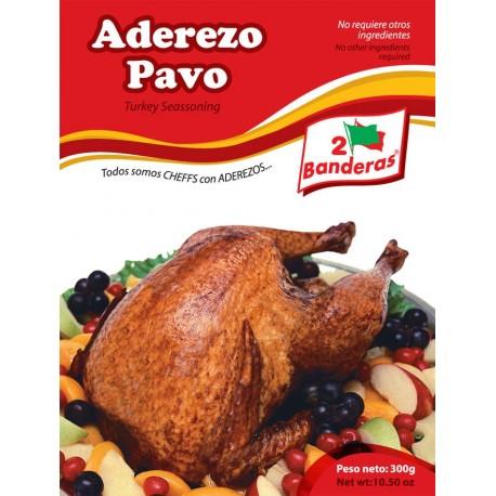 Assaisonnement Pavo Navideño liquide pour préparation de la Dinde de Noël à la péruvienne 2 Banderas 300g