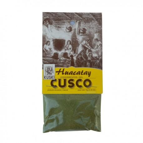 Huacatay en Poudre (Tagète du Pérou) Kuski / Epices de la Cuisine péruvienne / Pérou